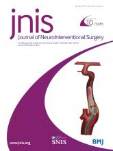 Journal of NeuroInterventional Surgery: 10 (1)