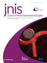 Journal of NeuroInterventional Surgery: 10 (10)