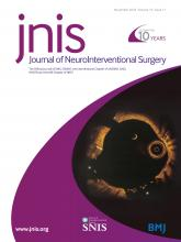 Journal of NeuroInterventional Surgery: 10 (11)