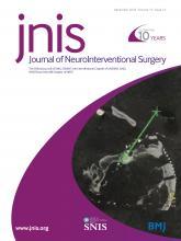 Journal of NeuroInterventional Surgery: 10 (12)
