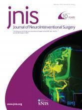 Journal of NeuroInterventional Surgery: 10 (2)