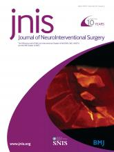 Journal of NeuroInterventional Surgery: 10 (4)