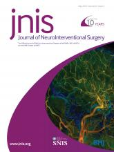 Journal of NeuroInterventional Surgery: 10 (5)