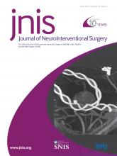 Journal of NeuroInterventional Surgery: 10 (6)