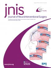 Journal of NeuroInterventional Surgery: 10 (8)