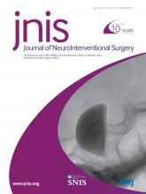 Journal of NeuroInterventional Surgery: 10 (Suppl 1)