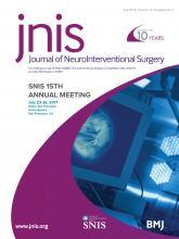 Journal of NeuroInterventional Surgery: 10 (Suppl 2)