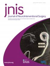 Journal of NeuroInterventional Surgery: 11 (1)