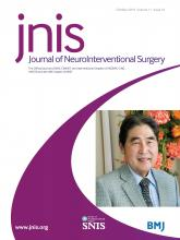 Journal of NeuroInterventional Surgery: 11 (10)