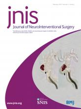 Journal of NeuroInterventional Surgery: 11 (2)