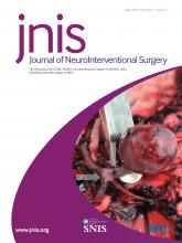 Journal of NeuroInterventional Surgery: 11 (5)
