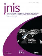Journal of NeuroInterventional Surgery: 11 (6)