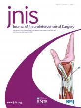 Journal of NeuroInterventional Surgery: 11 (7)