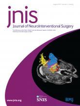 Journal of NeuroInterventional Surgery: 11 (8)
