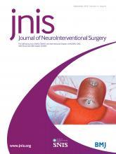 Journal of NeuroInterventional Surgery: 11 (9)