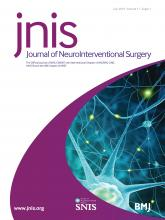 Journal of NeuroInterventional Surgery: 11 (Suppl 1)