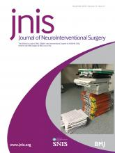 Journal of NeuroInterventional Surgery: 12 (11)