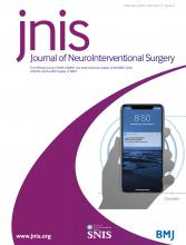 Journal of NeuroInterventional Surgery: 12 (2)