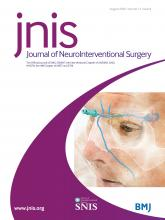 Journal of NeuroInterventional Surgery: 12 (8)