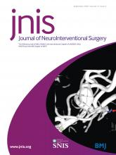 Journal of NeuroInterventional Surgery: 12 (9)
