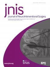 Journal of NeuroInterventional Surgery: 13 (1)