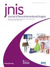 Journal of NeuroInterventional Surgery: 13 (2)