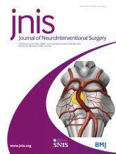 Journal of NeuroInterventional Surgery: 13 (6)
