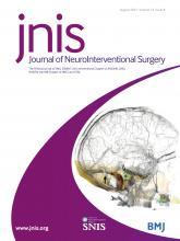 Journal of NeuroInterventional Surgery: 13 (8)