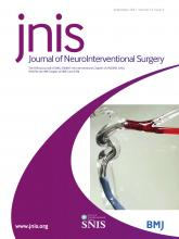 Journal of NeuroInterventional Surgery: 13 (9)
