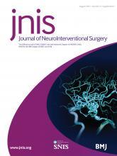 Journal of NeuroInterventional Surgery: 13 (Suppl 1)