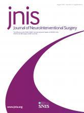 Journal of NeuroInterventional Surgery: 13 (Suppl 2)