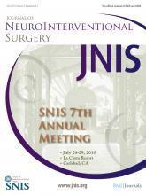 Journal of NeuroInterventional Surgery: 2 (Suppl 1)