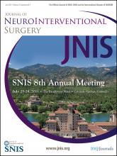 Journal of NeuroInterventional Surgery: 3 (Suppl 1)
