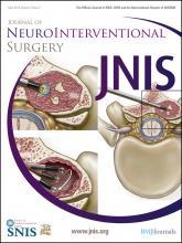 Journal of NeuroInterventional Surgery: 4 (3)