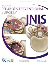 Journal of NeuroInterventional Surgery: 4 (3)