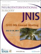 Journal of NeuroInterventional Surgery: 4 (Suppl 1)