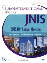 Journal of NeuroInterventional Surgery: 5 (Suppl 2)