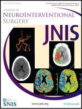 Journal of NeuroInterventional Surgery: 5 (suppl 1)