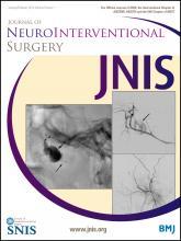 Journal of NeuroInterventional Surgery: 6 (1)