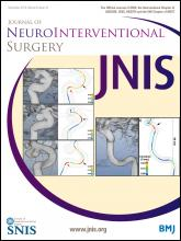 Journal of NeuroInterventional Surgery: 6 (10)