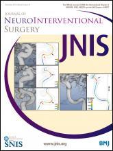 Journal of NeuroInterventional Surgery: 6 (10)