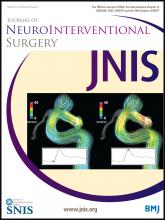 Journal of NeuroInterventional Surgery: 6 (2)
