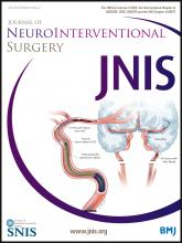 Journal of NeuroInterventional Surgery: 6 (3)