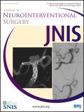 Journal of NeuroInterventional Surgery: 6 (4)