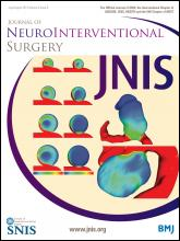 Journal of NeuroInterventional Surgery: 6 (6)