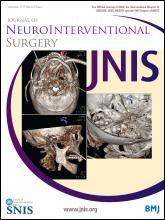 Journal of NeuroInterventional Surgery: 6 (7)