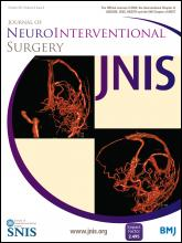 Journal of NeuroInterventional Surgery: 6 (8)