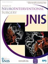 Journal of NeuroInterventional Surgery: 6 (9)