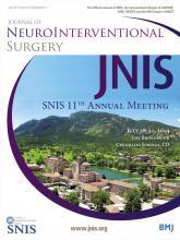 Journal of NeuroInterventional Surgery: 6 (Suppl 1)