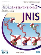 Journal of NeuroInterventional Surgery: 7 (1)